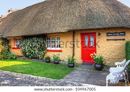 Adare Cottage Shop in Ireland. - stock photo