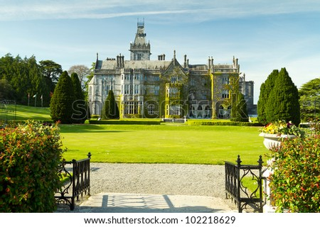 Adare manor and gardens, Co. Limerick, Ireland - stock photo