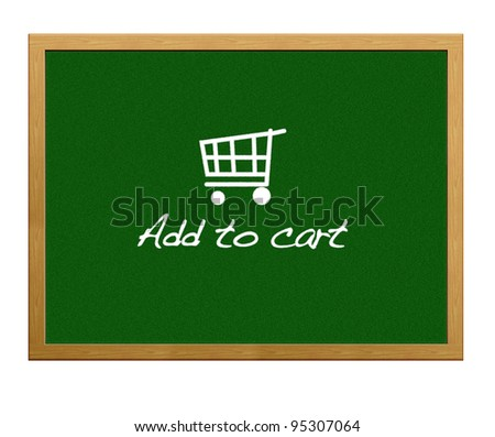 Add to cart. - stock photo