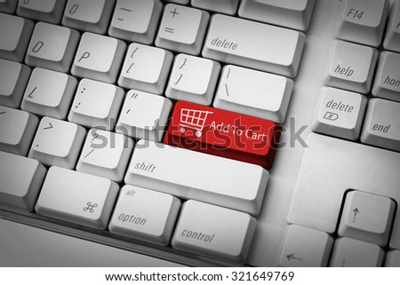 Add to cart button. E-commerce shopping card concepts. - stock photo