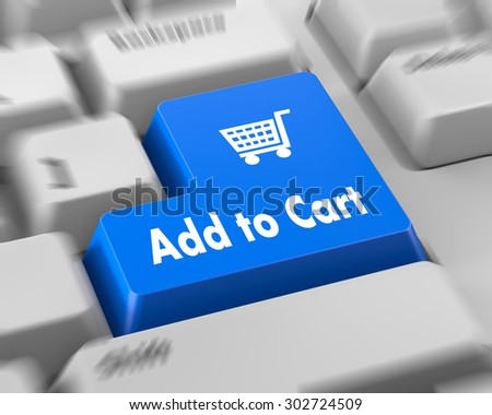 add to cart button keyboard 3d