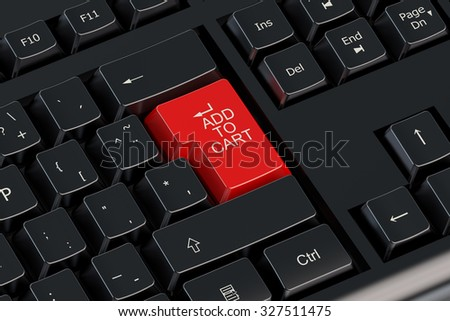 Add to cart red keyboard button