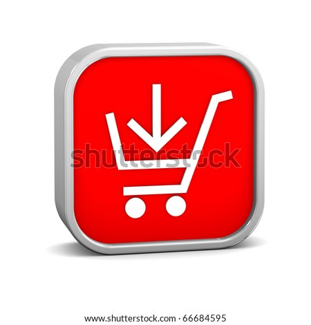 Add to cart sign on a white background. Part of a series. - stock photo