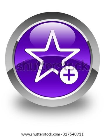 Add to favorite icon glossy purple round button
