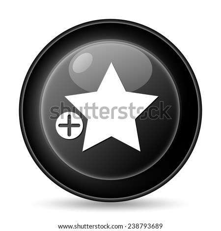 Add to favorites icon. Internet button on white background.