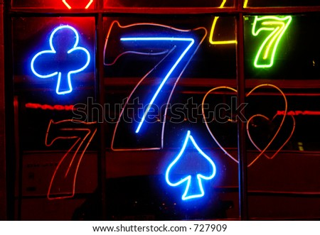 Addict casino - stock photo