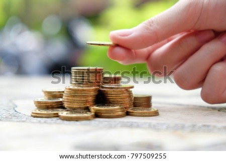 Adding coin to the top of coin stack