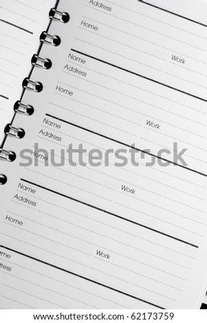 address book - stock photo
