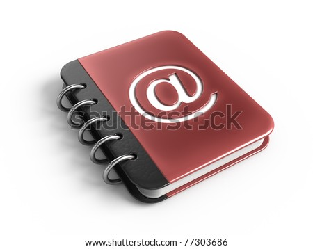 Address book - stock photo