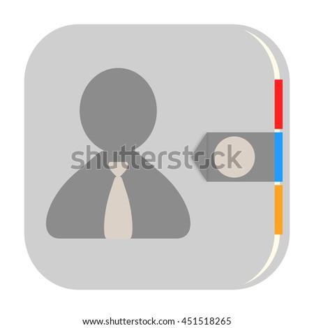 Address book icon - stock photo