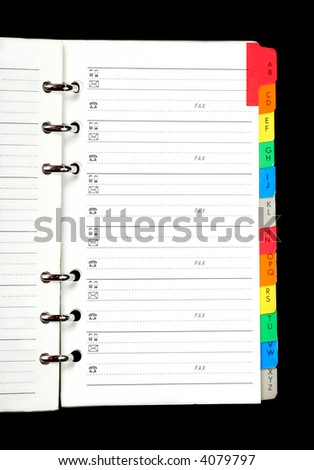 Address book\notepad - stock photo