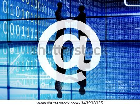 Address Online Internet At Symbol Connection Communication Concept - stock photo
