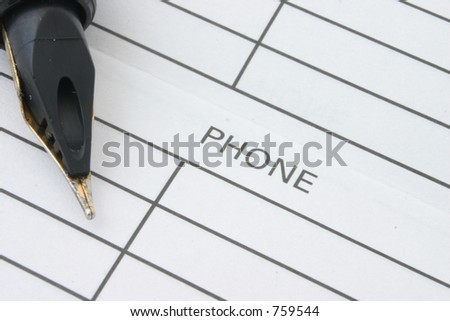 Address & Phone Book #2 - stock photo