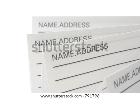 Address & Phone Book #8 - isolated - stock photo