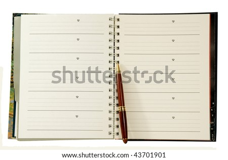 address-phone book with pen - stock photo