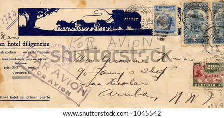 Addressed Envelope from the 1940's - stock photo