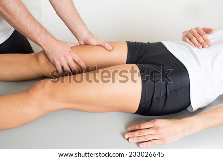 Adductor treatment - stock photo