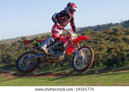 Adelaide, Australia June 15: Racing in the South Australian Motocross Titles 15th June 2008 - stock photo