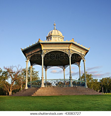 Adelaide's Elder Park Rotunda in late afternoon light - stock photo