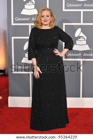 Adele at the 54th Annual Grammy Awards at the Staples Centre, Los Angeles. February 12, 2012  Los Angeles, CA Picture: Paul Smith / Featureflash - stock photo