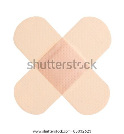 Adhesive bandage on a white background - stock photo