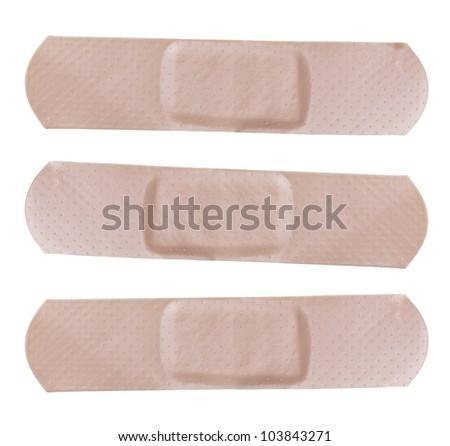 Adhesive bandages isolated on white Background - stock photo