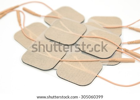 Adhesive Electrode, for use with Tens unit (Trans-cutaneous Electrical Nerve Stimulator) - stock photo