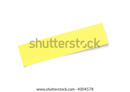 Adhesive note isolated  on white - stock photo