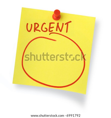 adhesive note with copy space against white background, shadow at the right side