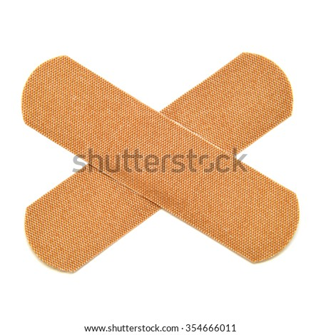 Adhesive plaster isolated on white background