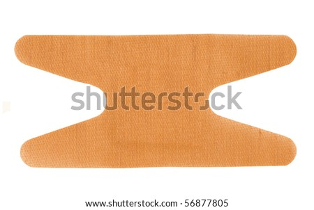 adhesive plaster on a white background - stock photo