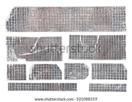 Adhesive reflective tape with reinforced mesh - stock photo