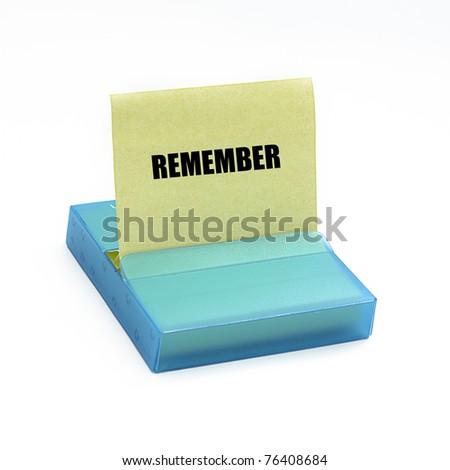adhesive reminder - stock photo