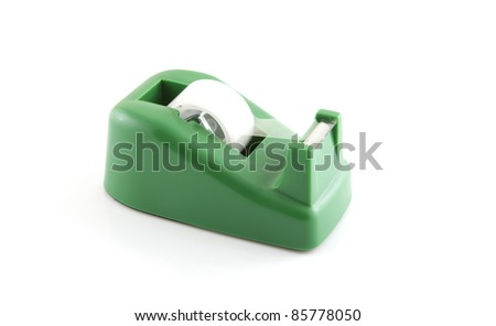 adhesive tape holder on a white background. - stock photo
