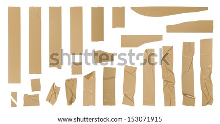 Adhesive tape set - stock photo