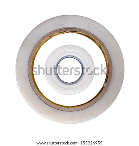 Adhesive tape that is sticky and can be used for various applications - stock photo