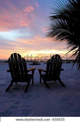 adirondack chairs on beach sunset. Perfect Chairs Adirondack Beach Chairs And Sunset Vertical And Chairs On Beach Sunset N