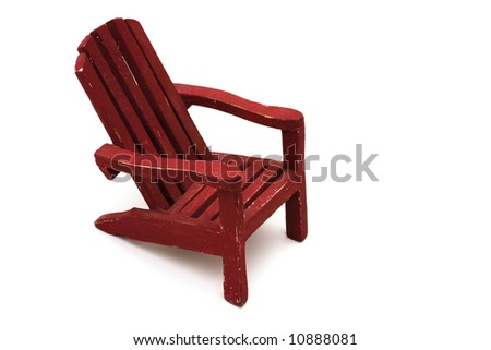 Adirondack chair isolated on a white background - stock photo