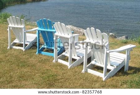 Adirondack Chairs - stock photo