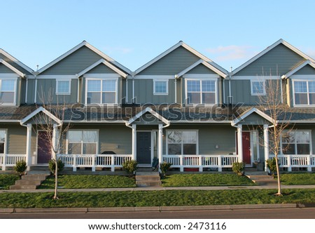 Adjoining Houses - stock photo