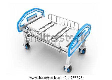 Adjustable hospital bed - stock photo