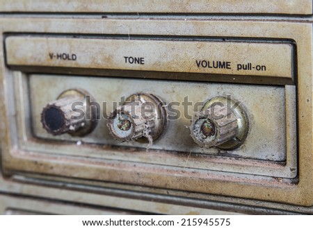 adjusted television vintage - stock photo