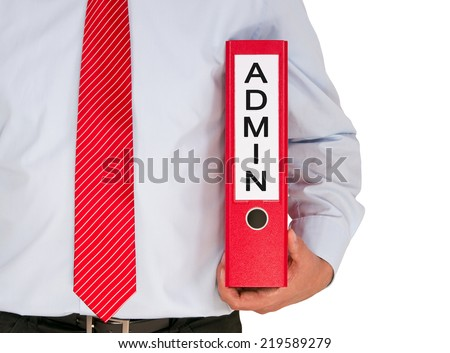 Admin - Administration - stock photo