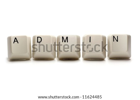 admin / administrator - computer keys, isolated on white