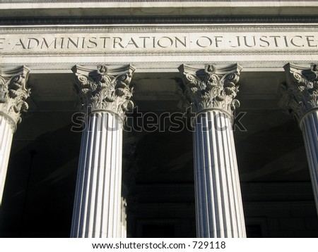 Administration of Justice Court House column