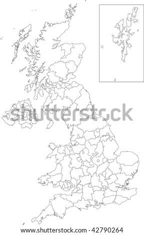Administrative divisions of the United Kingdom - stock photo