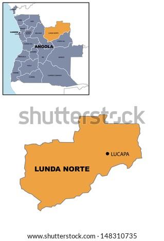 Administrative Map Angola Stock Illustration 148310699 Shutterstock