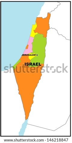 Administrative Map Israel Stock Photo 146218847 Shutterstock