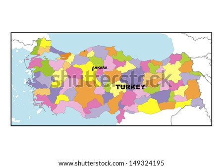 Administrative map of Turkey