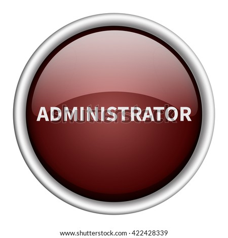 administrator icon - stock photo